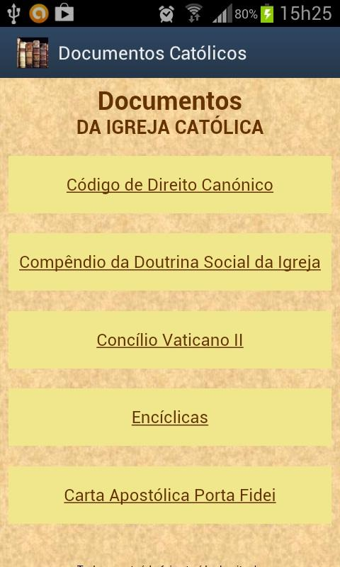 Documentos da Igreja - screenshot