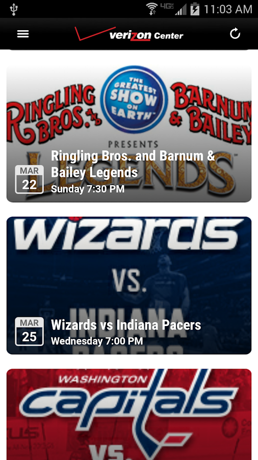 Verizon Center Mobile- screenshot