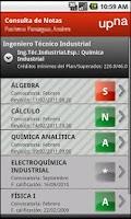 Screenshot of Consulta de Notas