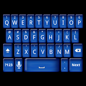 Blue Keyboard Skin
