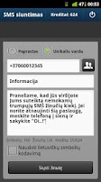 Screenshot of SMS siuntimas internetu