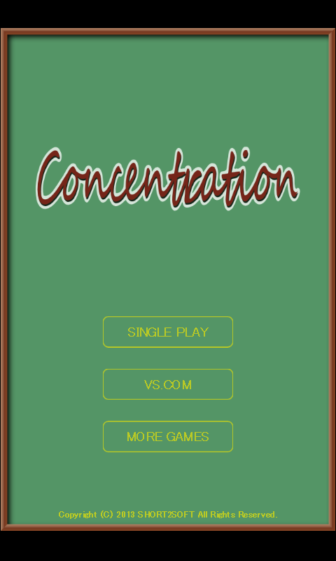 Concentration- screenshot