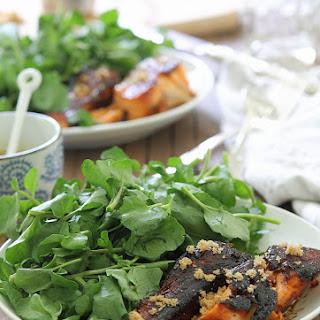 Brown Sugar Salmon With Rosemary Mustard Sauce