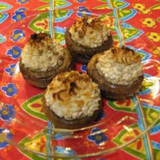 Cheese Stuffed Mushroom Appetizer.