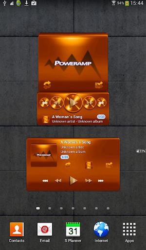 Poweramp widget - ORANGE METAL