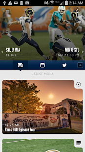 St. Louis Rams Official Mobile- screenshot thumbnail