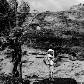 In wind - on rocks by Attila Kropf - People Professional People ( wind, photographer, rock, Free, Freedom, Inspire, Inspiring, Inspirational, Emotion )