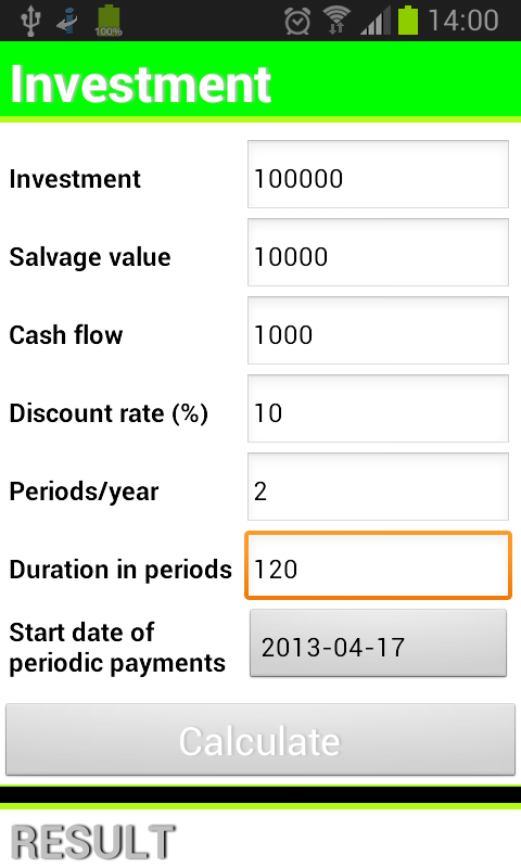 Company stock options calculator