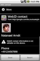 Screenshot of FOAF/WebID Provider & Browser