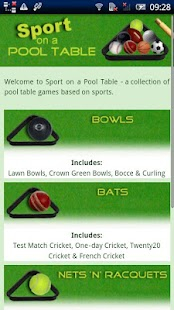 Sport on a Pool Table - screenshot thumbnail