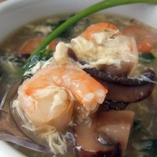 Shrimp & Veggie Egg Drop Soup- Quick & Easy!.