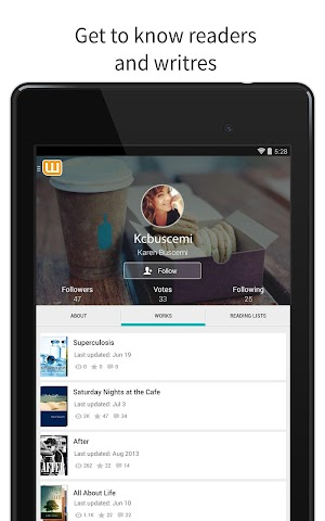 android Wattpad - Free Books & Stories Screenshot 2