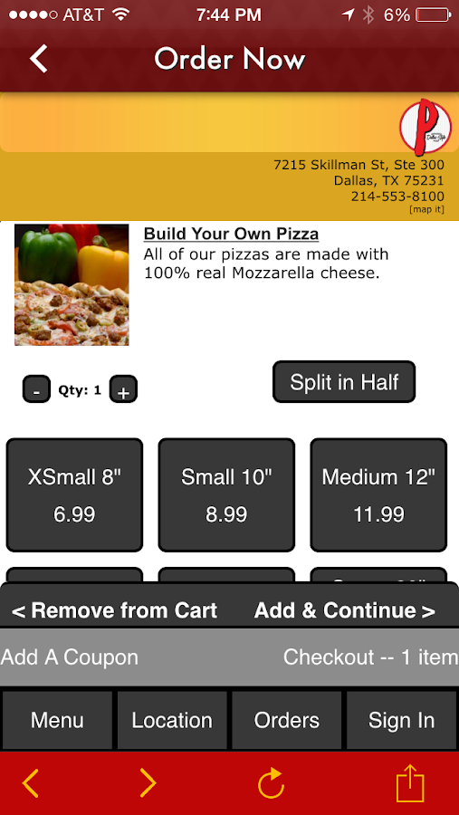 Picassos Pizza & Pasta- screenshot