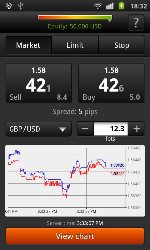 FXOpen Trader for Android - screenshot