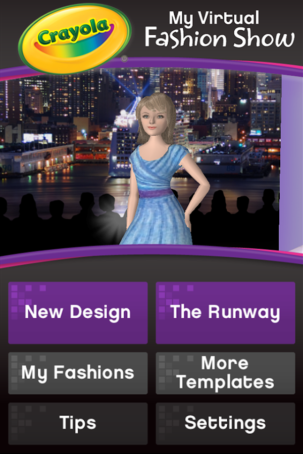 Crayola Virtual Fashion Show- screenshot