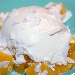 Yogurt with Orange and Coconut.
