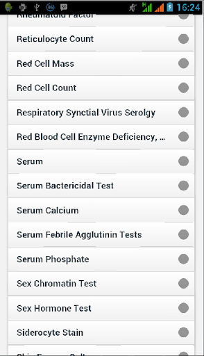 Medical Test Dictionary