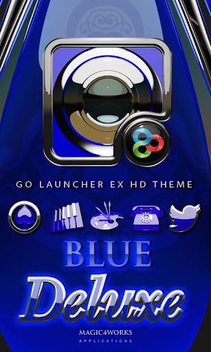 GO Launcher Theme Blue Deluxe
