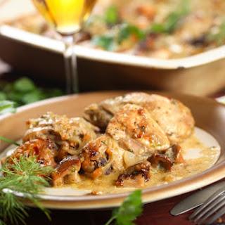Creamy Three Mushroom Chicken Casserole
