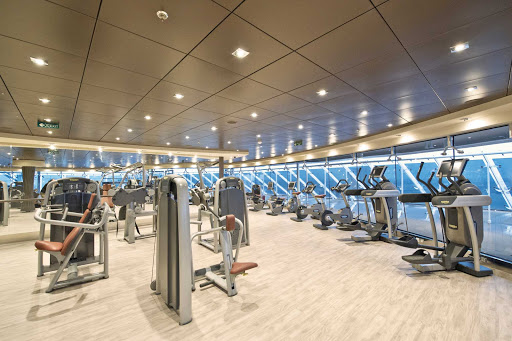 MSC-Divina-Aurea-Spa-Fitness-Center - Work out in Aurea's Fitness Center while enjoying the scenery as you sail aboard MSC Divina.