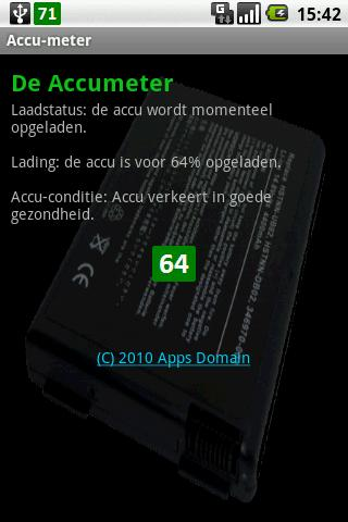 The Accu meter- screenshot