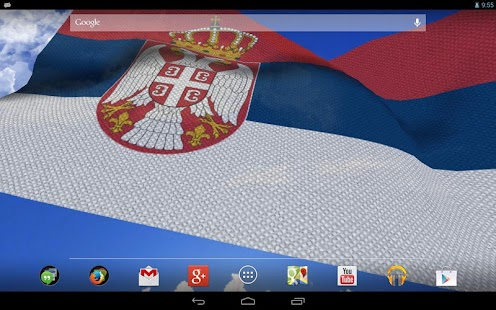 3D Serbia Flag Live Wallpaper- screenshot thumbnail