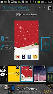 Christmas Letter atom theme screenshot 3