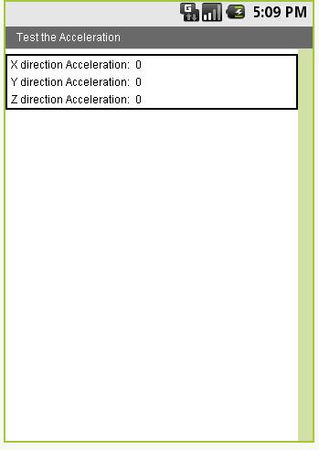 Accelerator Sensor
