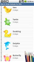 Screenshot of How to Draw Animals for Kids