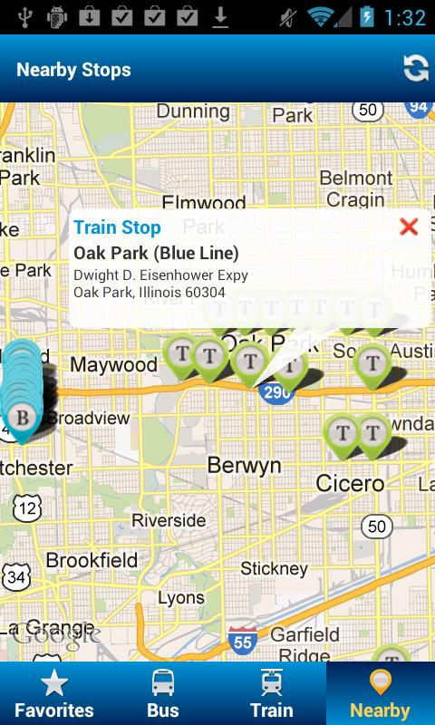 Ride Chicago - CTA, PACE - screenshot