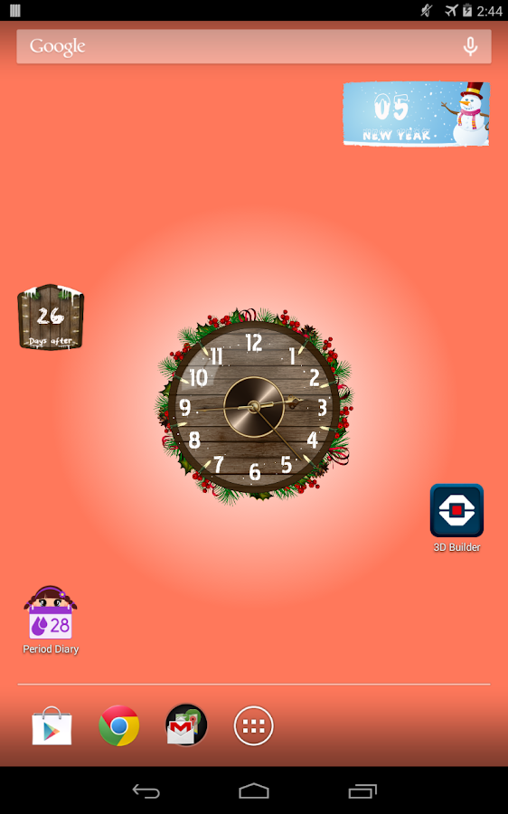 Analog Clock Wallpaper/Widget - screenshot