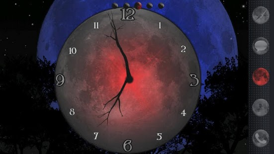 玩個人化App|Twilight Moon Clock Widget免費|APP試玩