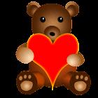 Teddy Bear Battery Widget icon