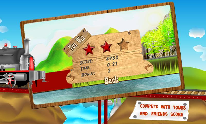 Bridge The Train - Kids Game - screenshot