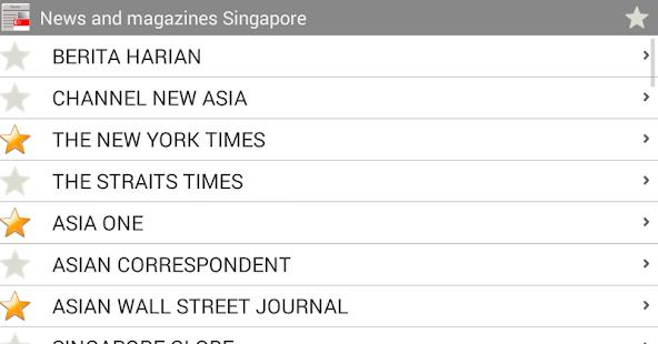 新闻和杂志新加坡
