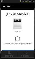 Screenshot of Impresora Android