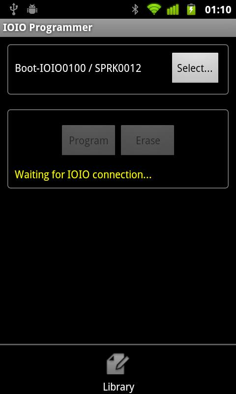 IOIO Manager- screenshot