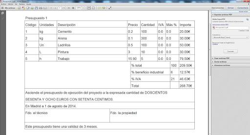 【免費生產應用App】Presupuestos Construcción Demo-APP點子