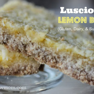 Luscious Lemon Bars (gluten & dairy-free with egg-free & sugar-free option)