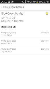 TN Restaurant Inspection- screenshot thumbnail