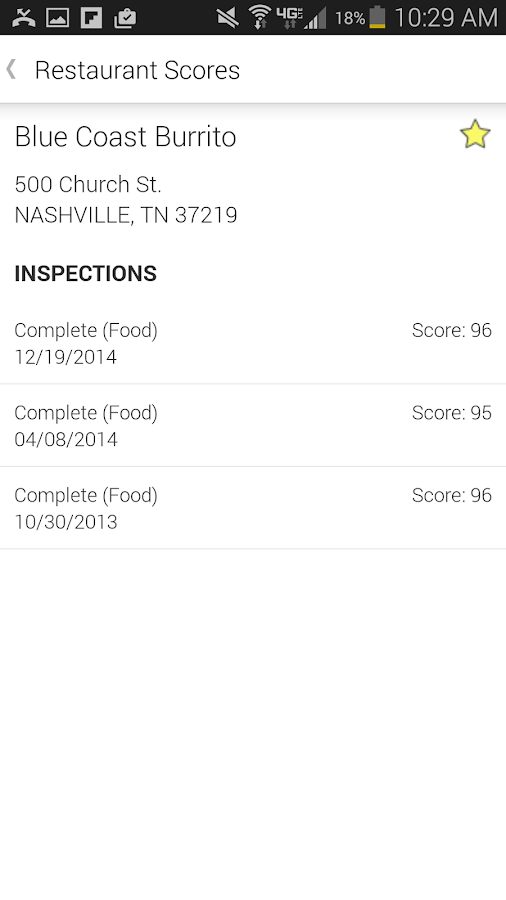 TN Restaurant Inspection- screenshot
