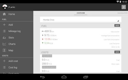 Fuelio: Fuel log & costs Screenshot 12