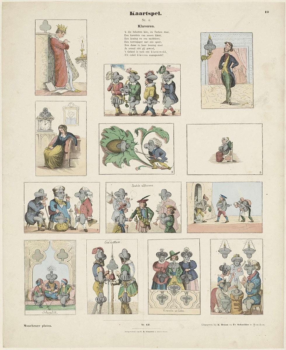 Kaartspel Nr 4 Klaveren J Beeg K Braun En Fr