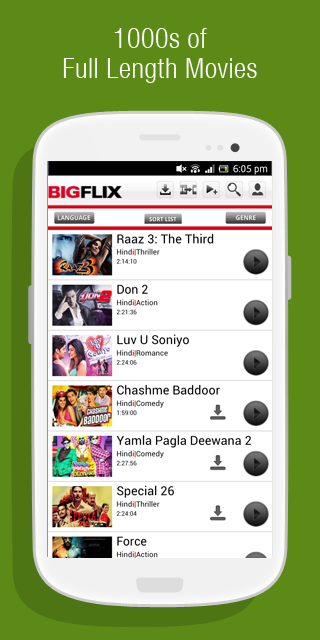 BIGFLIX - screenshot
