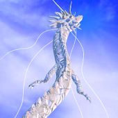 White Dragon in the Sky
