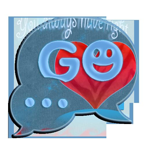 GO短信主題紅心 GO SMS Theme Red Hear 個人化 LOGO-阿達玩APP