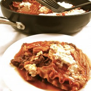 Skinny Skillet Lasagna in About 30 Minutes