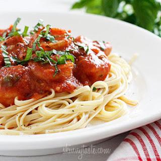 Linguini and Shrimp Fra Diavolo