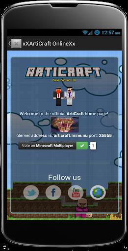 ArtiCraft Server