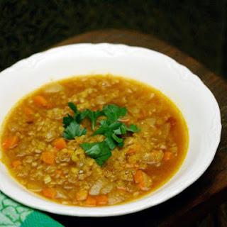 Moroccan Red Lentil Soup.